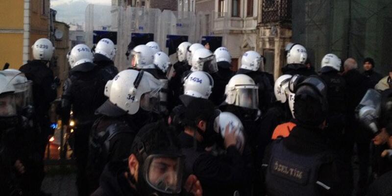 Beyoğlunda polis müdahalesi