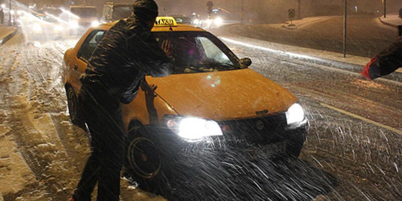 Mega kent İstanbul kar altında...