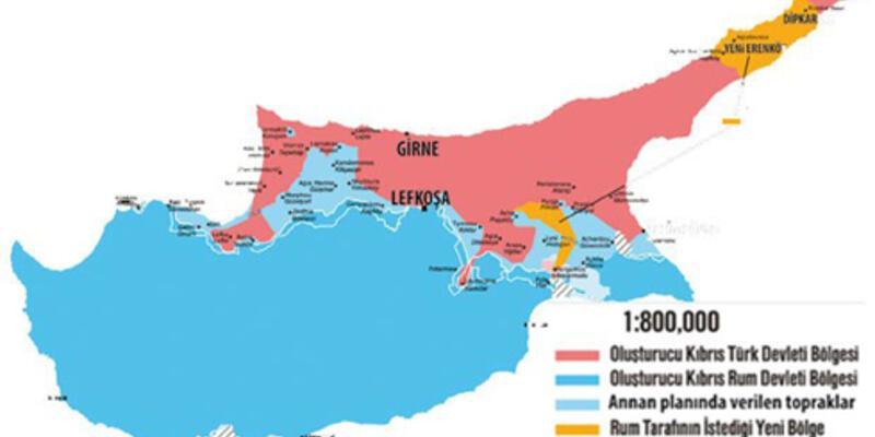 İşte Rumların yeni Kıbrıs haritası