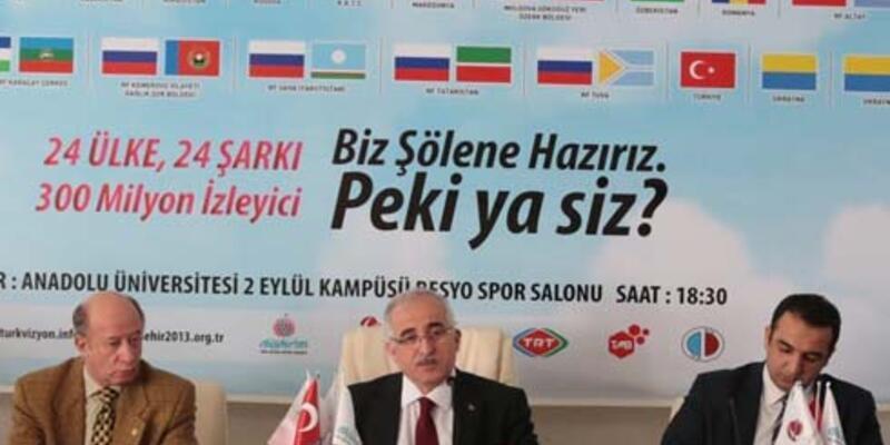 """Eskişehir'de """"Türkvizyon"""" yarışması yapılacak"""