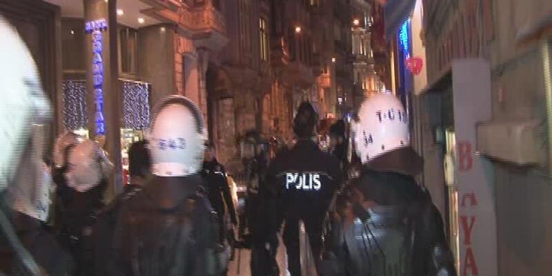 """Taksim'de """"Hayata dönüş"""" müdahalesi"""