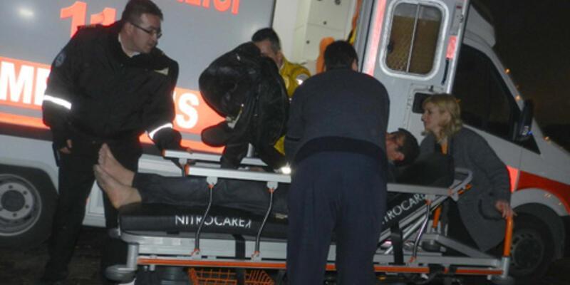 Erciyes'e çıkan öğrencileri taşıyan otobüs kaza yaptı