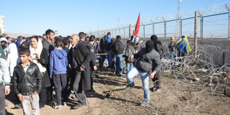 Nusaybin'deki duvar protestosunda gerginlik