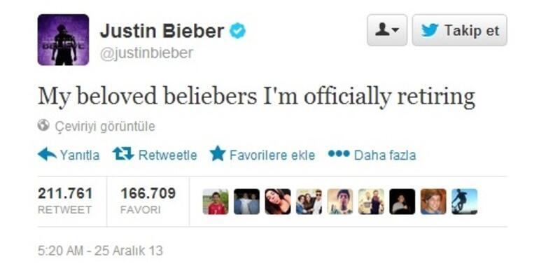 Justin Bieber emekliliğini ilan etti