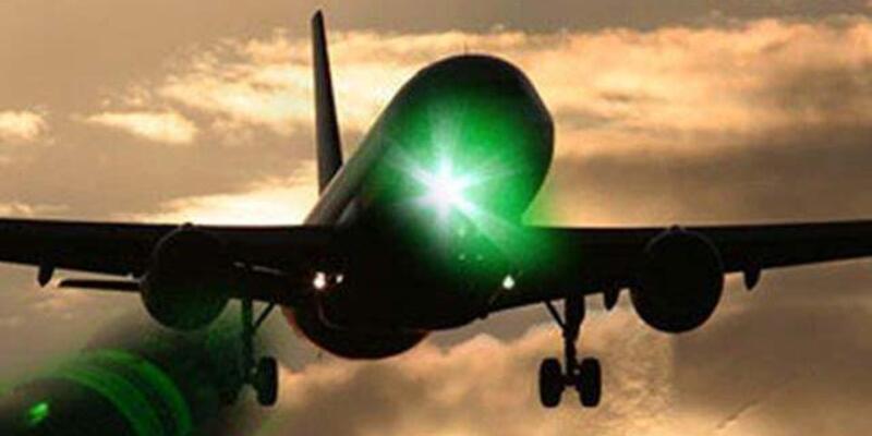 Uçaklara lazer tutan kişiye 10 bin lira ceza