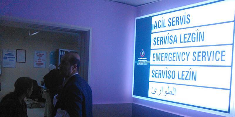 Diyarbakır'da kamu hastanelerinde 4 dilde tabela