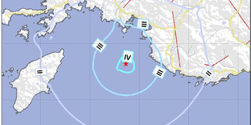 Fethiye'de 4.1 büyüklüğünde deprem