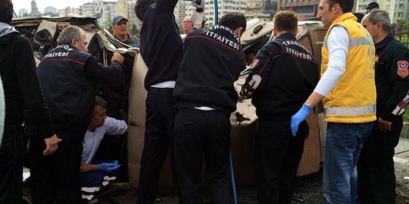 Trabzon'da feci kaza: 5 ölü
