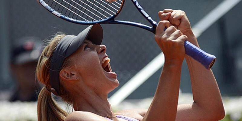 Madrid'de şampiyon Sharapova