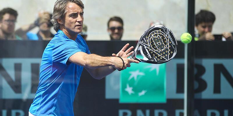 Mancini Totti'yle tenis oynadı