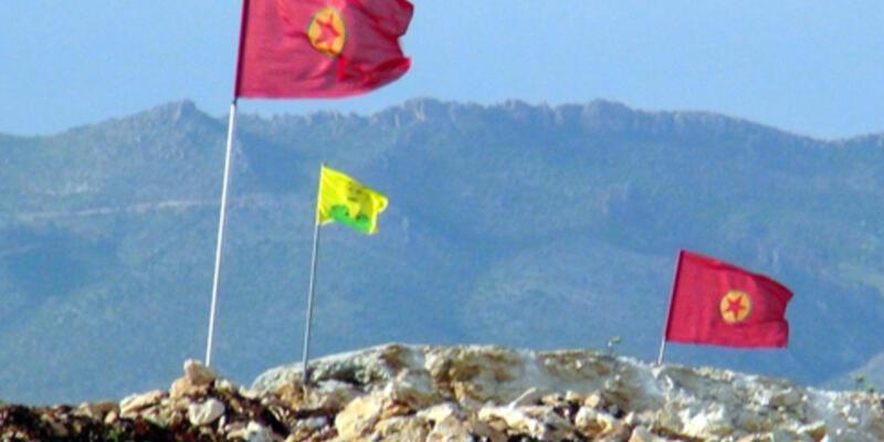 Karakol duvarına PKK bayrağı
