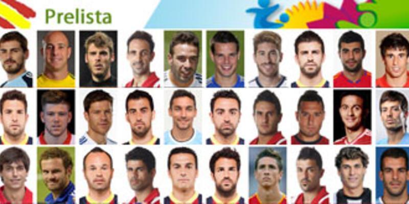 İspanya'nın 2014 Dünya Kupası aday kadrosu