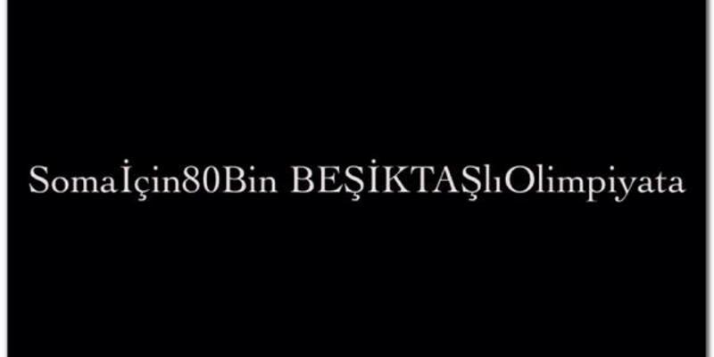 Beşiktaş Gençlerbirliği maçı gelirlerini Soma'ya gönderecek
