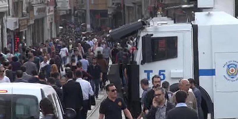 Taksim'deki Soma yürüyüşüne müdahale