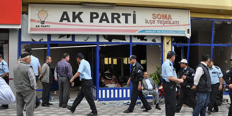 Soma'da AK Parti binasına saldırı