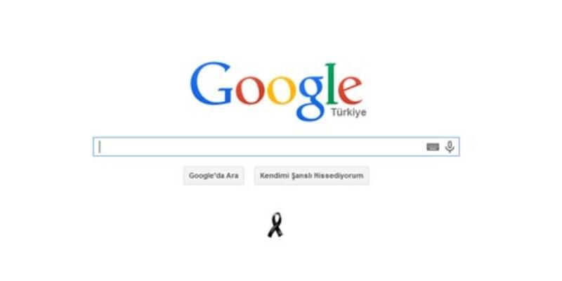 Google'dan Soma için siyah kurdele