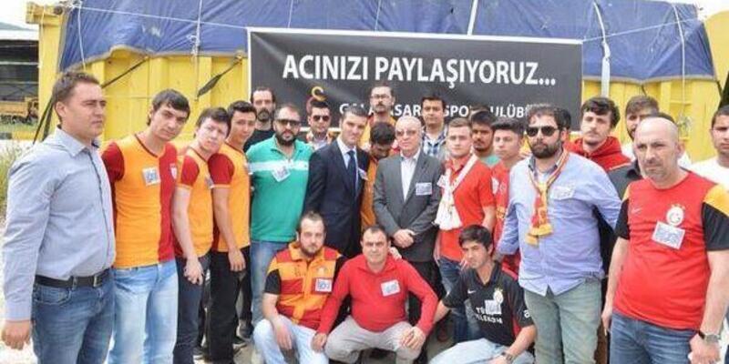 Galatasaraylı yöneticiler Soma'da