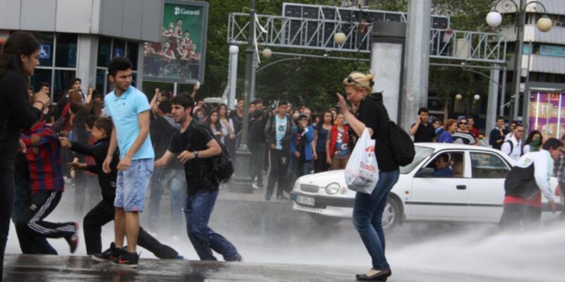 Ankara'da Soma protestosuna müdahale