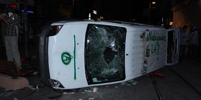 Kadıköy'deki Soma eylemine polis müdahalesi