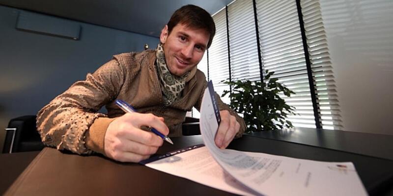 Messi'nin yıllık maaşı 20 milyon euro oluyor