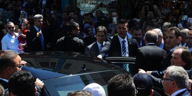 """""""7 günlük rapor aldı"""" denilen Yerkel, Erdoğan ile Eyüp Sultan'da"""