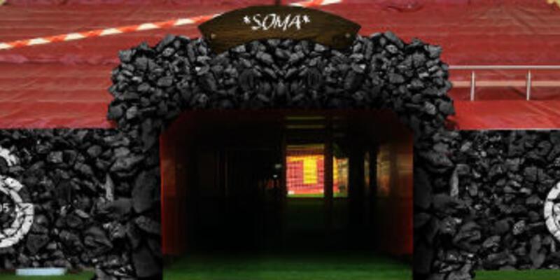 Galatasaray'ın çıkış tüneli Soma için kömür karası