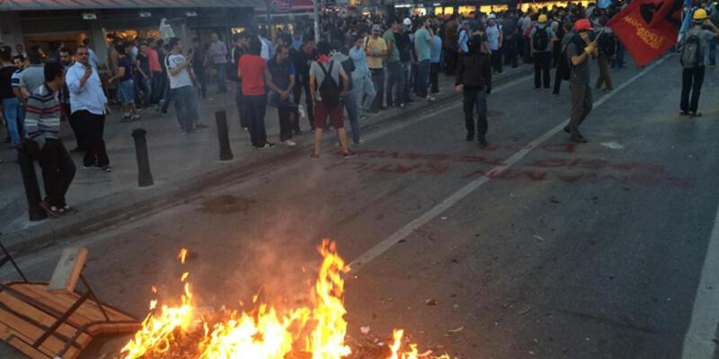 İzmir'de Soma gösterisine müdahale