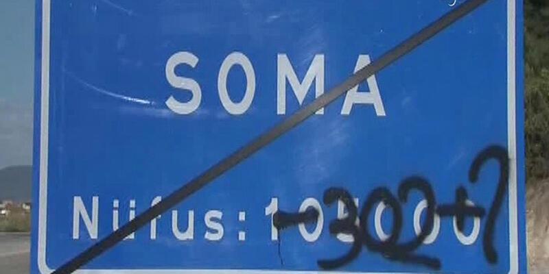 Soma'da her şeyi anlatan tabela!