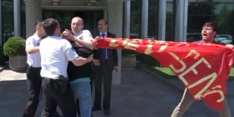 İBB önünde Soma eylemi