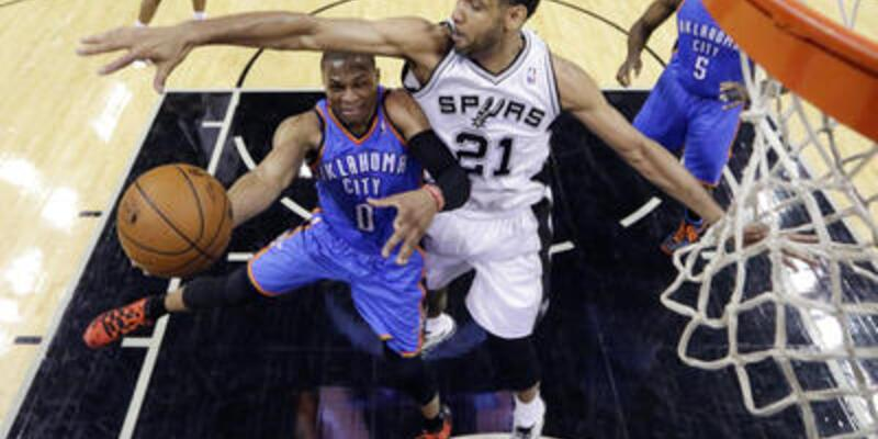 San Antonio Spurs - Oklahoma City Thunder: 122-105 (1-0)