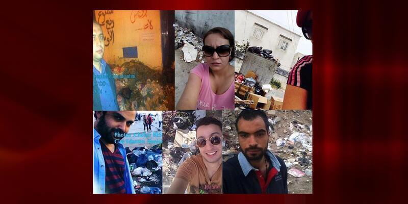 "Tunus'ta çöp ""selfie""si"