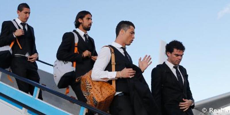 Real Madrid'in uçağı askeri hava alanına indirildi