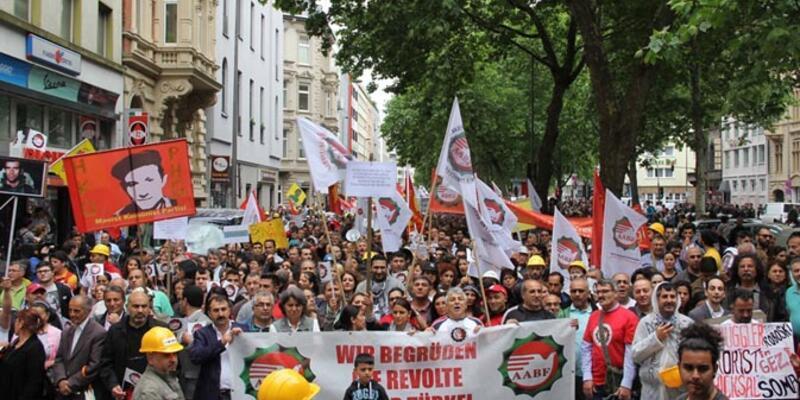 Köln'de Erdoğan protestoları