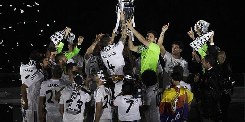 Real Madrid kutlamaya doyamadı