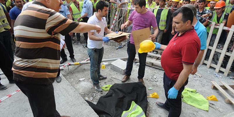 İşçiler arkadaşlarının ölümü sonrası iş bıraktı