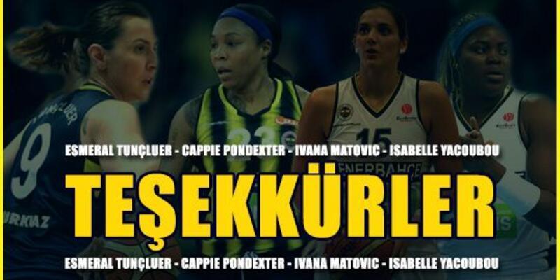 Fenerbahçe'den 4 oyuncuya veda