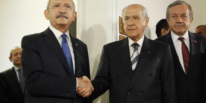 Devlet Bahçeli ve Kemal Kılıçdaroğlu görüştü
