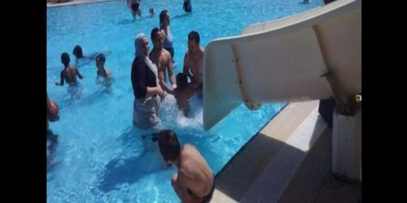 """Belediye Başkanı'ndan """"tesettürle havuza girme"""" yasağı"""