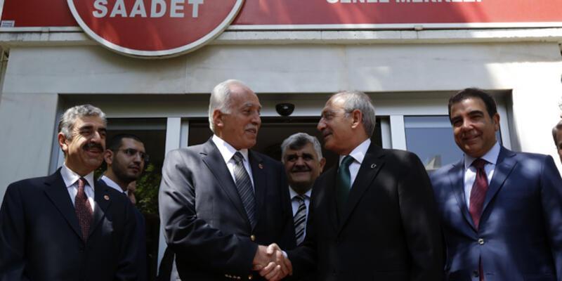Kemal Kılıçdaroğlu Saadet Partisi'ni ziyaret etti