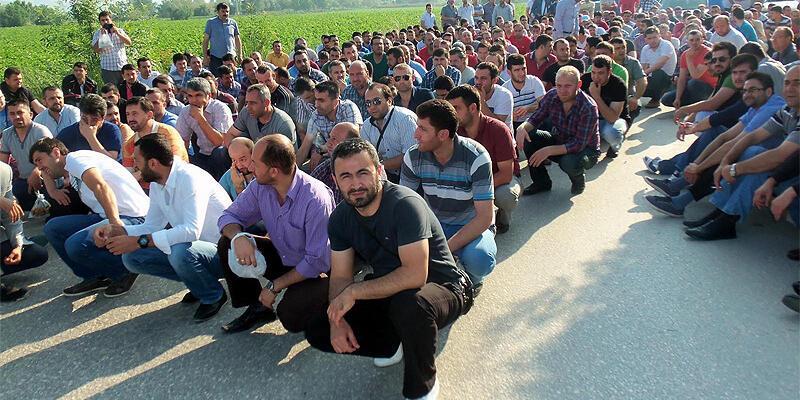 Şişe Cam işçileri grevde