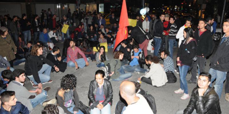 ODTÜ'deki yol yapımına protesto
