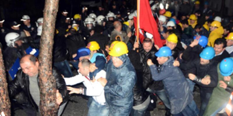 Muğla'da işçilere polis müdahalesi