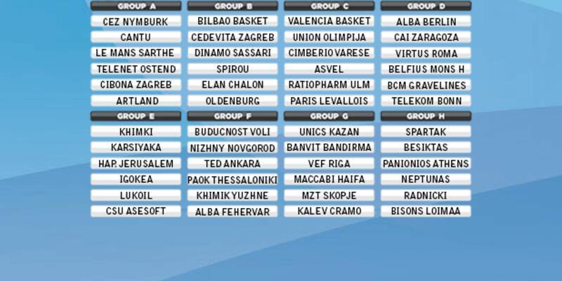ULEB Eurocup'ta rakipler belli oldu