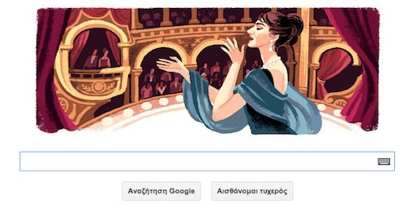 Google'dan Maria Callas doodle'ı