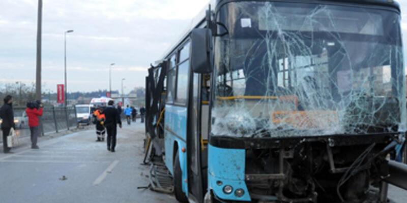 Özel halk otobüsü dehşet saçtı