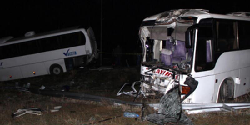 Manisa'da trafik kazası:1 ölü 41 yaralı