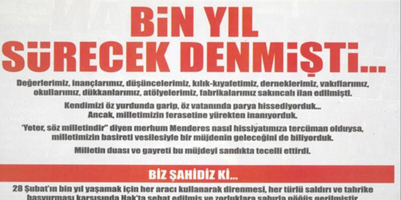 AKP-cemaat geriliminde hükümete STK'lardan ilan desteği