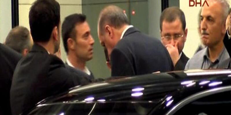 Başbakan'ı Mustafa Sandal karşıladı