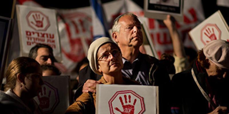 Filistinli mahkumların serbest bırakılmasına protesto