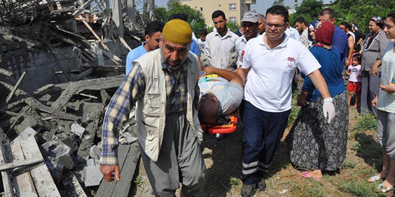 Tarsus'ta inşaat çöktü, işçi şoka girdi!